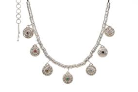 Seven Chakra Necklace SIlver