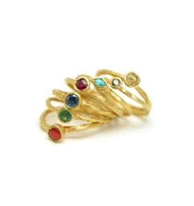 Chakra Ring Set Gold