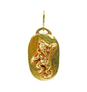 Dancing Ganesha Tiki Amulet