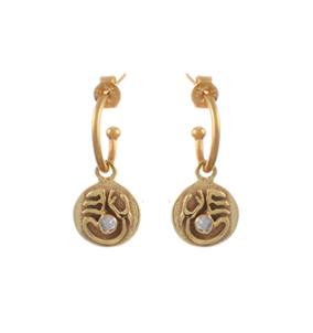 Tibetan Moon Earrings