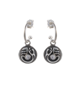 Tibetan Moon Earrings
