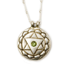 Heart Chakra Amulet with chain