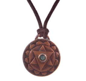 Heart Chakra Amulet with cord