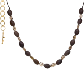 Lotus Seed Necklace with Smokey Quartz