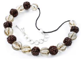Nagaland Rudraksha and Crystal Necklace