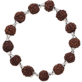 Rudraksha Bracelet, Stretchy with Cap