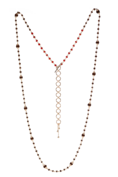 Rudrani Coral Rudraksha Mixed Necklace