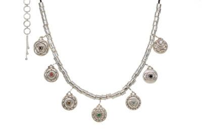Seven Chakra Necklace - Silver