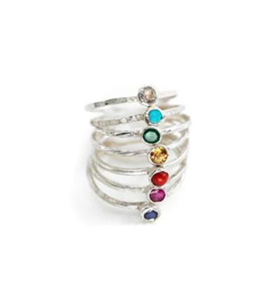 Chakra Ring Set - Silver