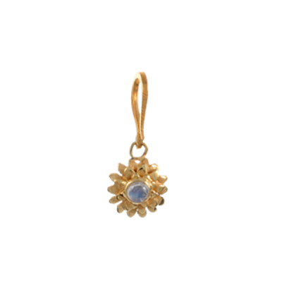 Small Lotus Charm - Gold