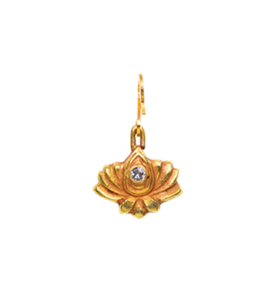 Small Lotus Amulet- Gold