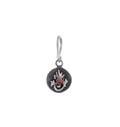 Tibetan Flame Charm - Silver
