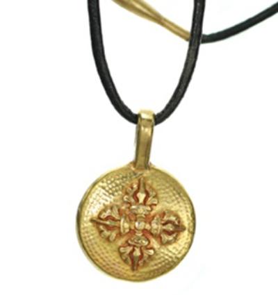 Double Dorje Amulet - Gold