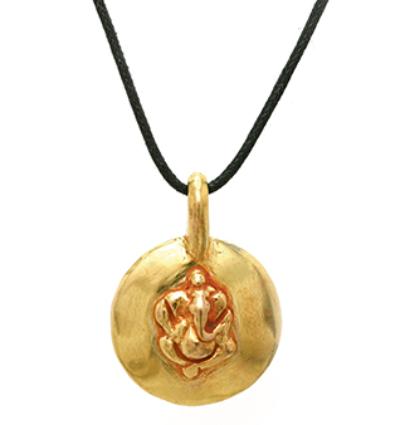 Ganesh Amulet - Gold