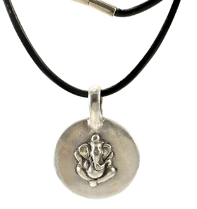 Ganesh Amulet - Silver