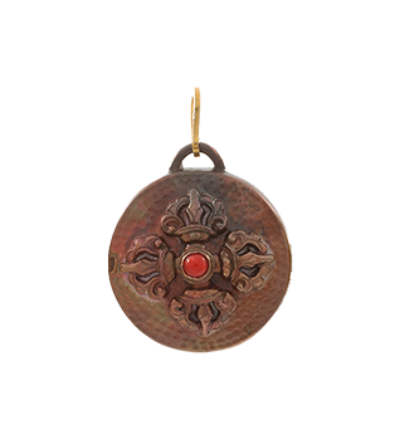 Double Dorje large - Copper
