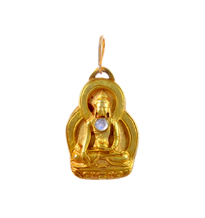 Medicine Buddha Amulet - Gold