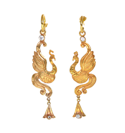 The Bird of Paradise Earrings - Gold