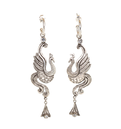 The Bird of Paradise Earrings - Silver