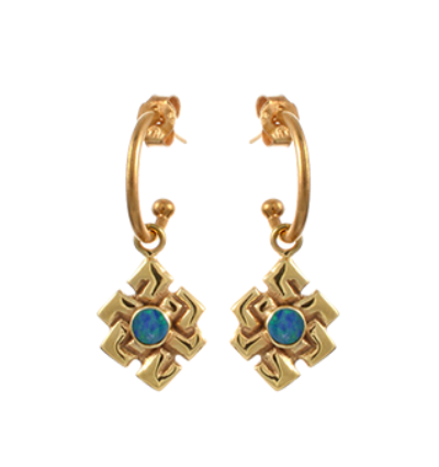 Endless Knot Earrings - Gold