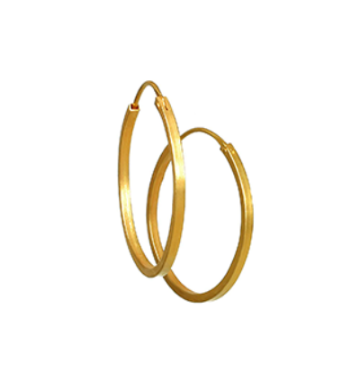 Hoop Earrings Earrings - Gold