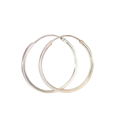 Hoop Earrings Earrings - Silver