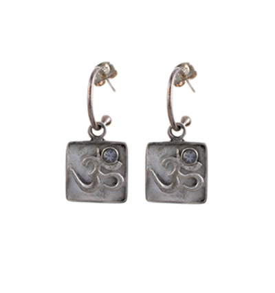 OM Earrings - Silver