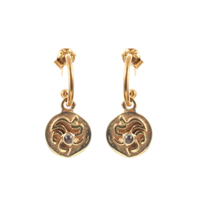Tibetan Sun Earrings - Gold