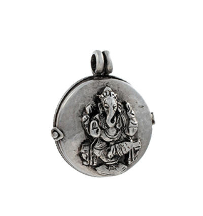 Ganesh Locket - Silver