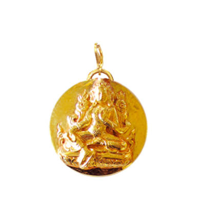 Green Tara Amulet - Gold