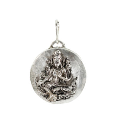 Green Tara Amulet - Silver