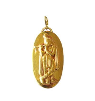 Krishna Amulet - Gold