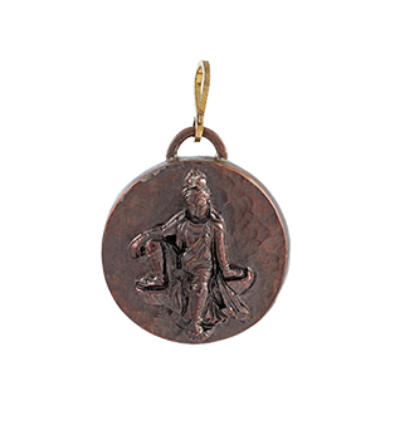 Kwan Yin Amulet - Copper