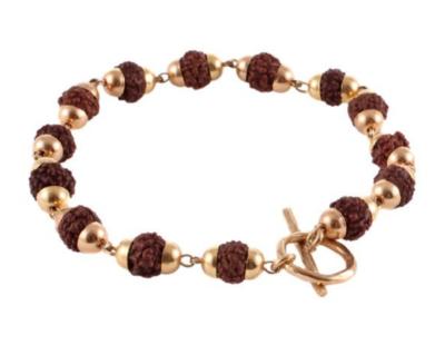 Goddess Bracelet Siva Rudraksha - Gold