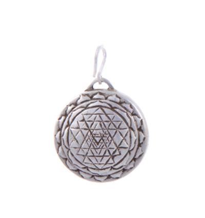 Sri Yantra Amulet - Silver