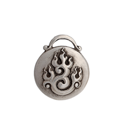 Fire Amulet - Silver