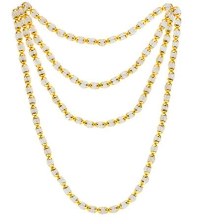 Himalayan Quartz Crystal Mala - Gold