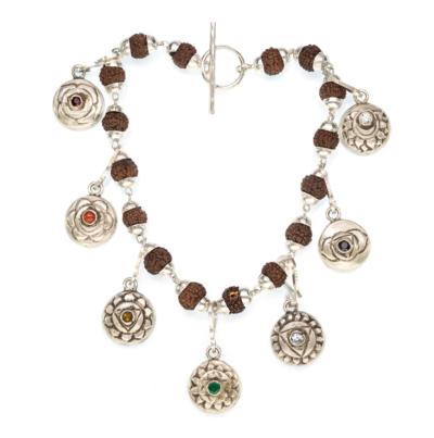 The 7 Chakra Charm Bracelet - Silver