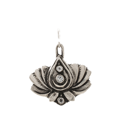 3 Star Lotus - Silver