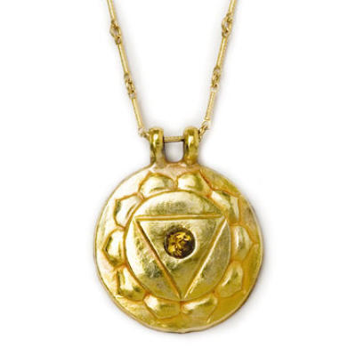Navel Chakra Amulet with chain - Gold