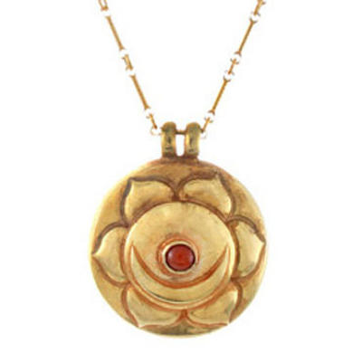 Sex Chakra Amulet with chain - Gold