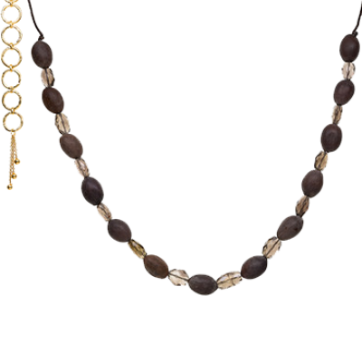 Lotus Seed Necklace - Smokey Quartz