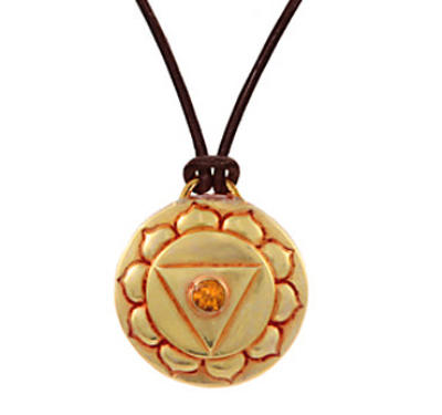 Navel Chakra Amulet with cord - Gold