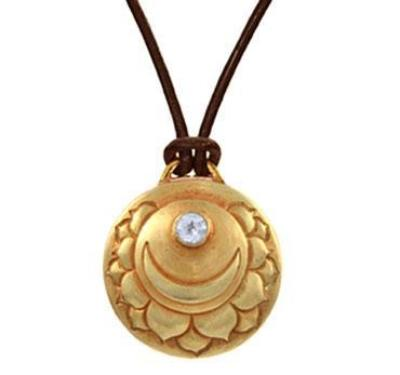 Crown Chakra Amulet with cord - Gold