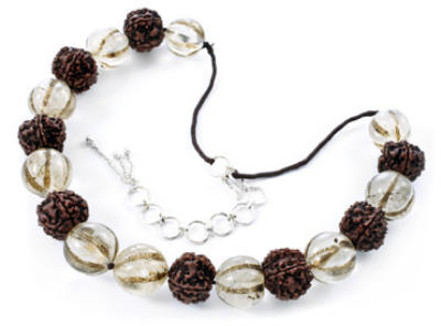 Nagaland Rudraksha and Crystal Necklace