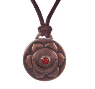 Sex Chakra Amulet with cord - Copper