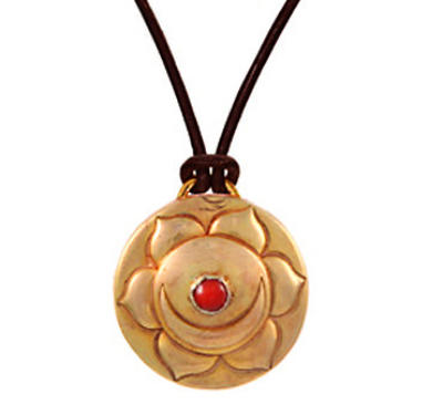 Sex Chakra Amulet with cord - Gold