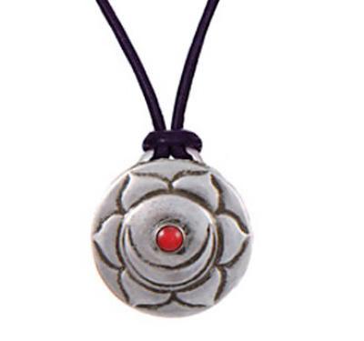 Sex Chakra Amulet with cord - Silver