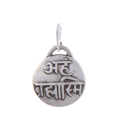 Mantra - Aham Brahmasmi Amulet - Silver
