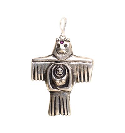 Bear Eagle Goddess - Silver